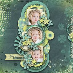 Digital Scrapbook Page Inspiration, Pickleberrypop