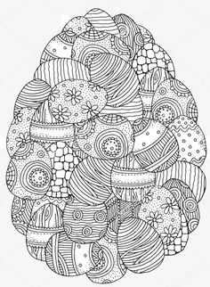 coloring page Easter eggs on Kids-n-Fun. At Kids-n-Fun you will always find the nicest coloring pages first! Easter Egg Coloring Pages, Spring Coloring Pages, Cool Coloring Pages, Mandala Coloring Pages, Printable Coloring Pages, Adult Coloring Pages, Coloring Books, Easter Art, Easter Crafts
