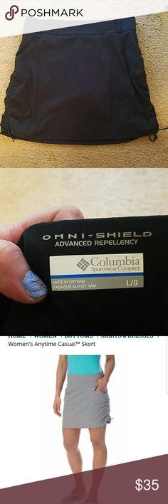 Nice Columbia tennis skirt. Black. Brand new. Columbia tennis skirt. Black and ties on the side  OMNI - SHIELD, ADVANCED REPELLENCY. Columbia Skirts