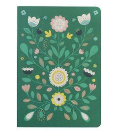 cahier Carroussel, cahier folk, Mini Labo, rentrée, vert, fleuri, rentrée