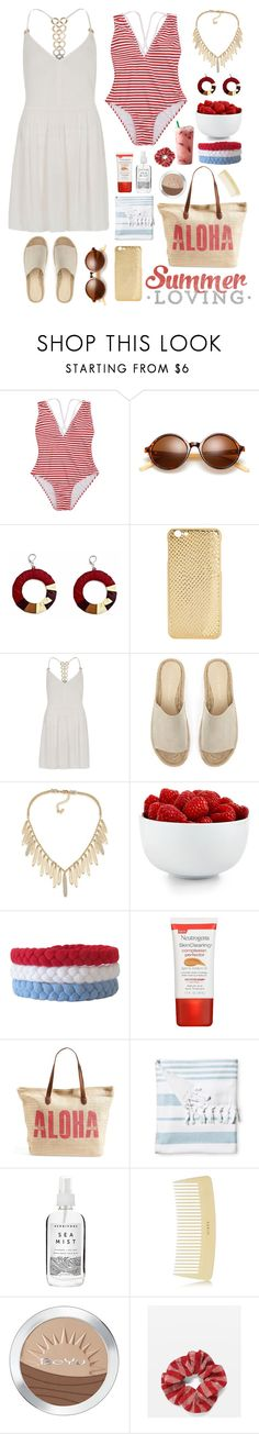 """Summer Style"" by gicreazioni ❤ liked on Polyvore featuring Mela Loves London, River Island, Mint Velvet, ABS by Allen Schwartz, The Cellar, Neutrogena, Rip Curl, Serena & Lily, Herbivore and AERIN"