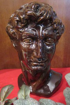 Michelangelo's David's head bust by HeirLoomWeaver on Etsy