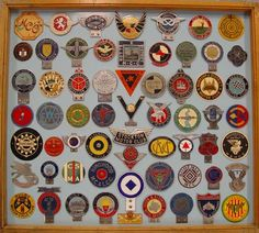 Collection of 62 Auto & Motorcycle Club Badges