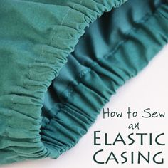 Learn one of the basics of garment sewing: how to sew an elastic waistband with a simple casing! Also, how to calculate elastic length and seam allowance.