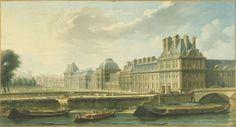 Le Palais des Tuileries, vu du quai d'Orsay | Paris Musées | Artist: Nicolas-Jean-Baptiste Raguenet