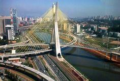 Viagens e caminhos: Ponte estaiada – São Paulo