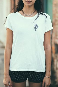 Brandy ♥ Melville | Margie Cactus Embroidery Top - Graphics