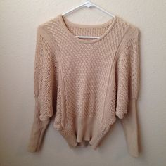 LADIES' SWEATER TOPS Details: -no brand -fits to small-medium  -color: cream -bottom /arm part stretches -pre-loved , slightly used -no wear / looks new  Please bundle or make an offer!!!   #sweater #ladiestop #cream #stretchybottom #spring #preowned #preloved #tops #fashion #lingerie #tops #dress #style #brandnew #preloved #preowned #sheer #bra #bundle Tops Blouses