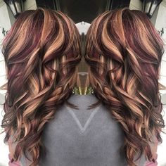 Auburn Color With Blonde Highlights By Melissa At Southern Roots
