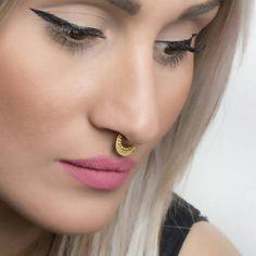 Μύτη με χάντρες διαφράγματος Ring Ring σώματος Κοσμήματα 925 στερεό Black Rhodium, Bohemian Jewelry, Rose Gold Plates, Body Jewelry, Septum Ring, 18k Gold, Piercing, Sterling Silver, Rings