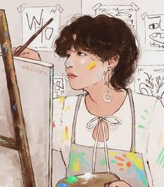 Kpop Drawings, Couple Drawings, Foto Bts, Bts Photo, Bts Video, Bts Fans, Kpop Fanart, Bts Pictures, Bts Taehyung