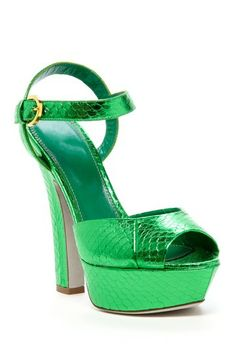 8dc303d2fe63 Sergio Rossi Embossed Snake Print Platform Sandal by Non Specific on   HauteLook Beautiful High Heels