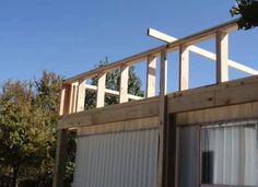 The Best Self-Supported Mobile Home Roof Over Designs 19 Mobile Home Roof, New Mobile Homes, Mobile Home Repair, Single Wide Mobile Homes, Mobile Home Renovations, Remodeling Mobile Homes, Porch For Camper, Mobile Home Addition, Roof Extension