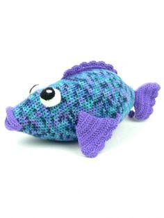 Big Rainbow Fish By Deb Richey - Free Crochet Pattern - (yarnspirations)