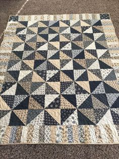 Like the center. Don't care for the border. Good option for my black and cream homespuns.
