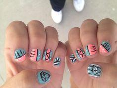 My Aztec nails