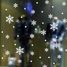 Décoration de noël flocons de neige amovible wall sticker fenêtre vinyle sticker accueil salon chambre mural decal papier peint(China (Mainland))