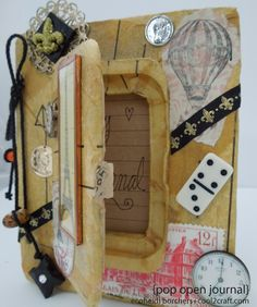 This Pop Open Journal created by Heidi Borchers is SO clever! Featured on Cool2Craft TV.