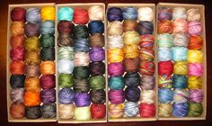 Valdani Threads hand-dyed and color-fast floss.  I almost want this image in poster form so I can hang it on my wall.  Gorgeous!