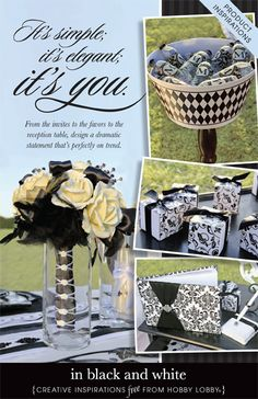 Make your wedding day a unique and memorable event using a black and white color scheme that's full of personal style.
