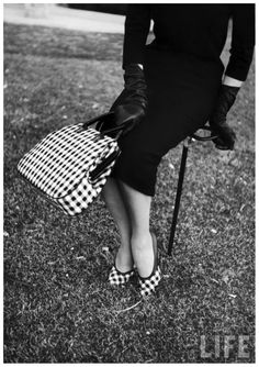 1958 monochrome accessories photographed by Nina Leen