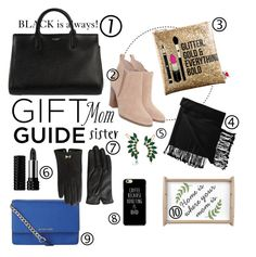 """""""Gift Guide for Mom and Sister Contest."""" by proud-bee ❤ liked on Polyvore featuring Yves Saint Laurent, Michael Kors, Sephora Collection, New Directions, MICHAEL Michael Kors, Trina Turk, Kat Von D and Ted Baker"""