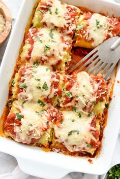 Spinach Lasagna Roll-Ups with Table For Two
