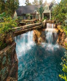 lagoon to home more - Cool Pools With Waterfalls In Houses