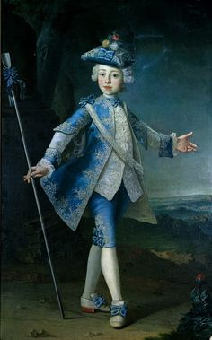 Portrait of the young Count Hardegg, c. 1730 German