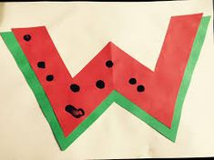 Letter W Activities, Watermelon Crafts, Teaching English, Flag, Lettering, Cards, Drawing Letters, Science, Maps