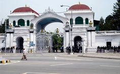 Entrance to Singha Durbar, the seat of the Nepalese government in Kathmandu