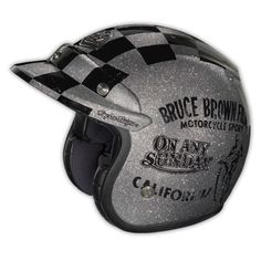 Troy Lee Designs - Ltd. Edition Open Face Helmet On Any Sunday Silver