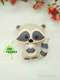 Best Free Raccoon PDF pattern-Woodland animals toy-DIY-Nursery decor-Baby's mobile toy-Felt Raccoon toy-Kids present-Felt ornament raccoon Suggestions If you intend to understand anything new, it will look like the whole world understands more than y Felt Animal Patterns, Stuffed Animal Patterns, Diy Toys, Toy Diy, Diy Nursery Decor, Nursery Patterns, Baby Mobile, Presents For Kids, Felt Baby