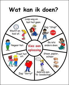 Problem-solve-wheel in het Nederlands.