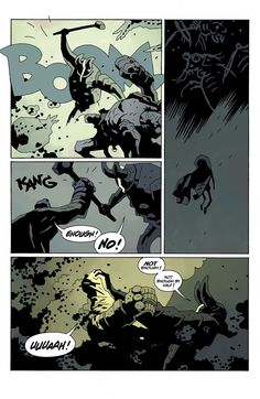 Hellboy in Hell returns today, read the entire first issue right here Mike Mignola Art, Comic Styles, Comic Page, Storyboard, Word Art, Geek Stuff, Comic Books, Fantasy, Comics