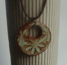 Soft Pistachio Field of Flowers Mod Ceramic Pendant by Artgirl56, $12.50