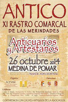 26/10 ANTICO. XI Rastro Comarcal de las Merindades Medina de Pomar  De 10h a 20h