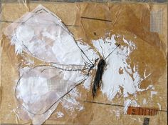 Nature Study Collage on mat board by ColetteCopeland on Etsy