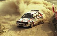 Juha Kankkunen in his Lancia Delta Integrale