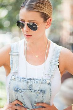 Overalls and a White Tee **