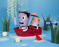 Whimsical Paper Craft Dioramas by Barbara Perdiguera
