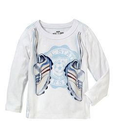 Look what I found on #zulily! White Sneaker Tee - Infant, Toddler & Boys #zulilyfinds