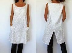 Patron de couture à télécharger - Tunique femme croisée dans le dos avec la vidéo du cours de couture - 4.95€