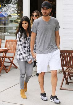 Kourtney Kardashian and Scott Disick in the Hamptons on June 12