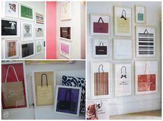 Sacolas emolduradas #sacolas #fashionistas #decor #idea #diy #casadasamigas