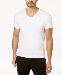 True Religion Men's V-Neck T-Shirt - White XXXL
