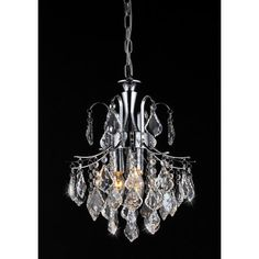 Warehouse of Tiffany Susan 3 Light Crystal Chandelier