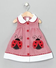 Some days, I wish I had another baby girl to dress in cute lady bug stuff! Some days, I wish I had another baby girl to dress in cute lady bug stuff! Little Dresses, Little Girl Dresses, Girls Dresses, Sewing For Kids, Baby Sewing, Toddler Dress, Baby Dress, Dress Girl, Dress Red
