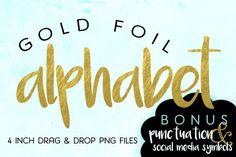 Gold Foil Alphabet Letters + BONUS @creativework247