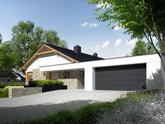 Casa cu garaj cu acoperis plat